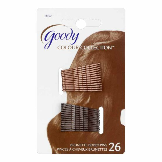 Goody Colour Collection Bobby Pins - Brown - 26's