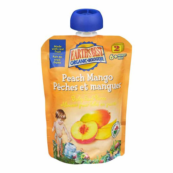 Earth's Best Infant Puree Pouch - Peach and Mango - 128 ml