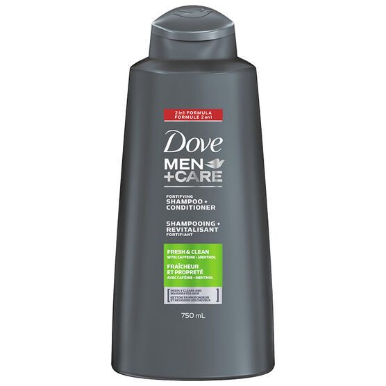 Dove Men+Care Fresh Clean Caffeine + Menthol Fortifying Shampoo & Conditioner 2in1 - 750ml