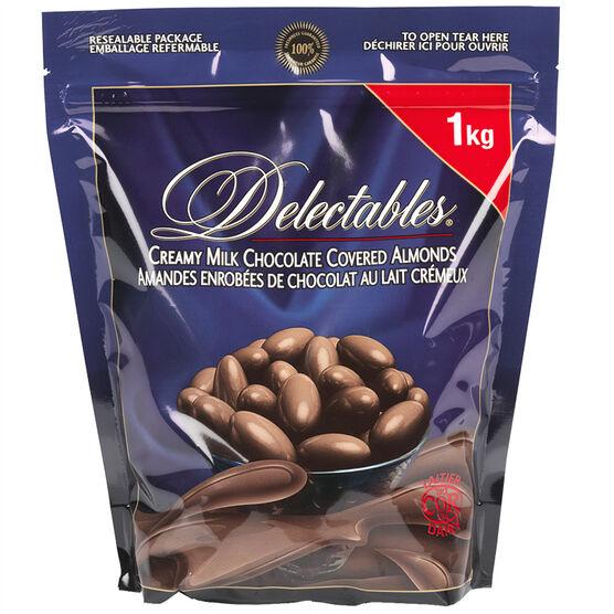 Trophy Delectables Milk Chocolate Almonds - 1kg