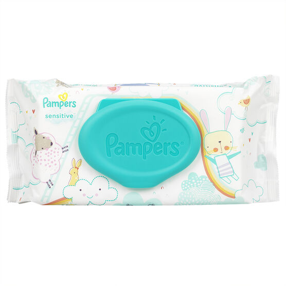 Pampers Wipes - Sensitive - 56's