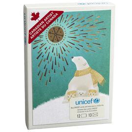 Unicef Christmas Cards - Polar Bear and Sun - 12 pack