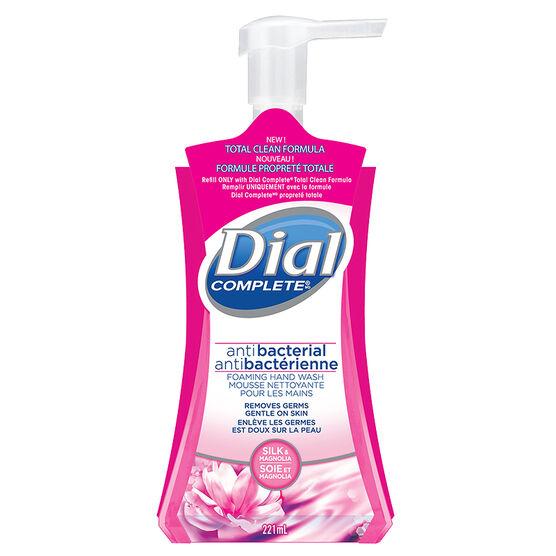 Dial Complete Antibacterial Foaming Hand Wash - Silk & Magnolia - 221ml