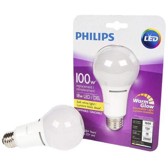 Phillips Perform Plus A21 LED Bulb - Soft White - 100W