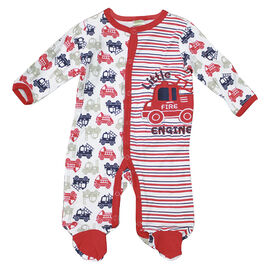 Baby Mode Firetruck Coverall - 6679 - Assorted