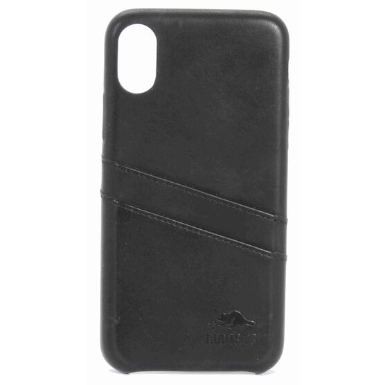 Roots Slim Wallet Case for iPhone X - Black - RSWIPXB