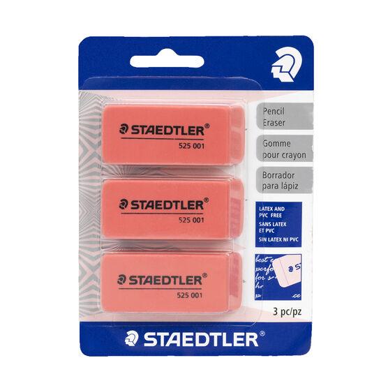Staedtler Pink Erasers - 3 Pack