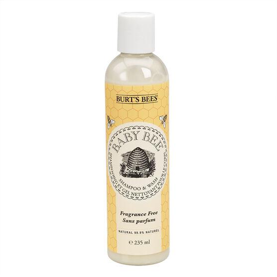 Burt's Bees Baby Shampoo & Wash - Fragrance Free - 235ml