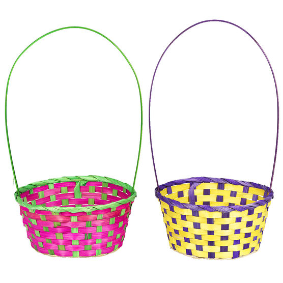 Easter Bamboo Weave Baskets