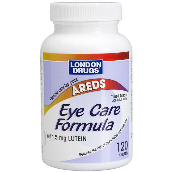 London Drugs Eye Care Formula with 5 mg Lutein - 120 caplets