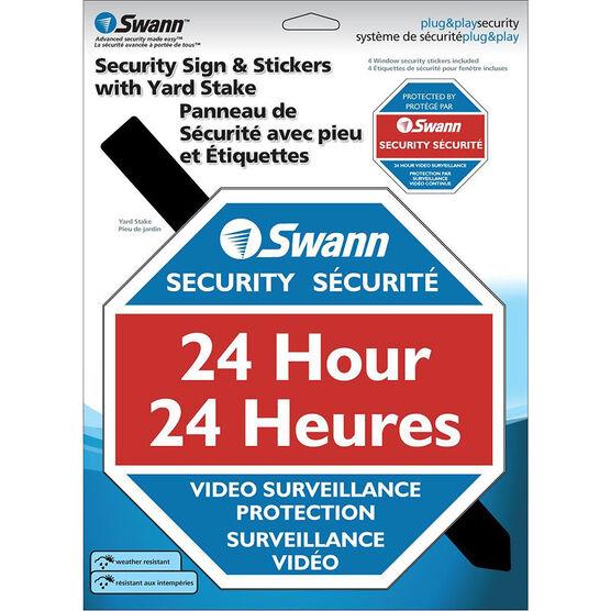 Swann Warning Lawn Sign -SW276-YSS