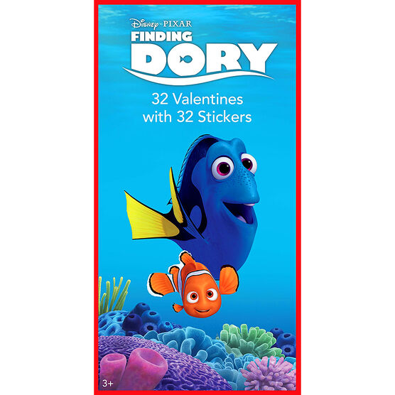 Finding Dory Sticker Valentines - 32s - 4153595