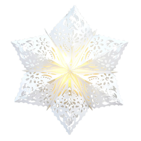 Danson Battery Operated LED Snowflakes - White - 22in