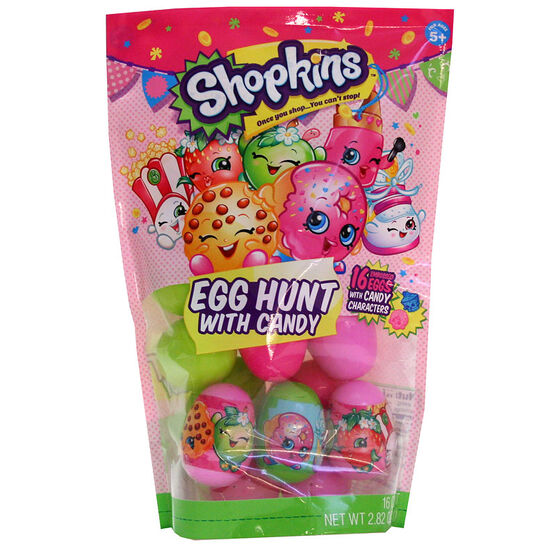 Shopkins Easter Egg Hunt with Candy - 80g