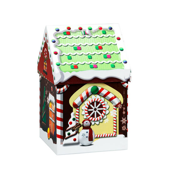 Gingerbread House Box - 4.5 x 4.5 x 7.5in