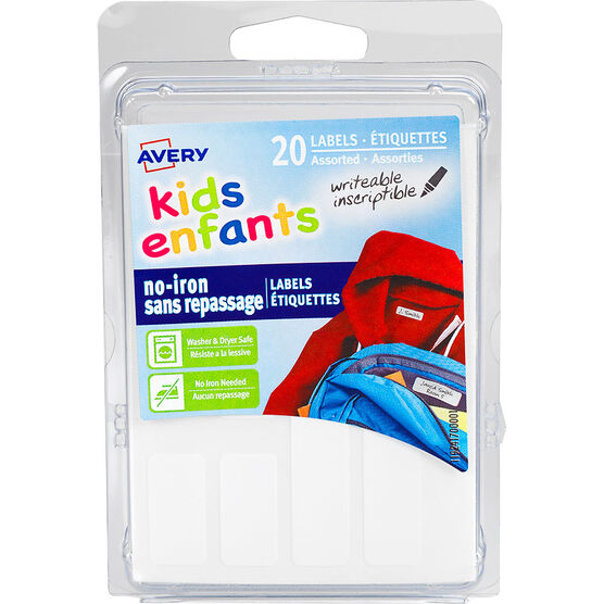 Avery Kids No-Iron Clothing Lables - 20s - 41700