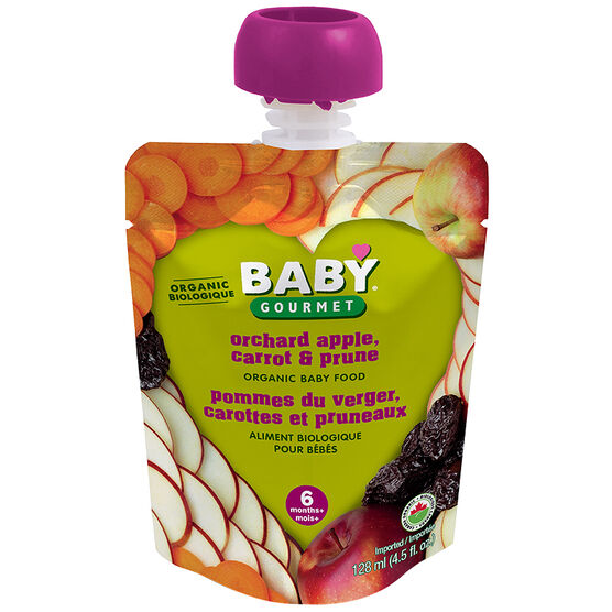 Baby Gourmet Baby Food Stage 1 - Orchard Apple, Carrot & Prune - 128ml