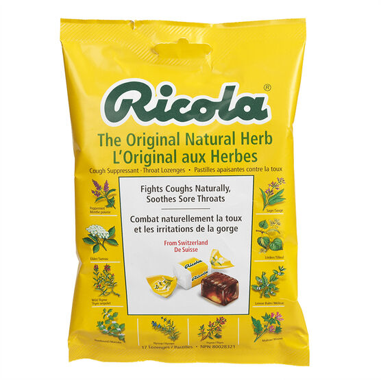 Ricola Cough Suppressant Throat Lozenges - Original Herb - 75g