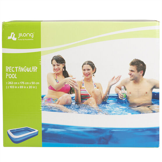 Funzone Giant Rectangular Pool - 262 x 175 x 50cm