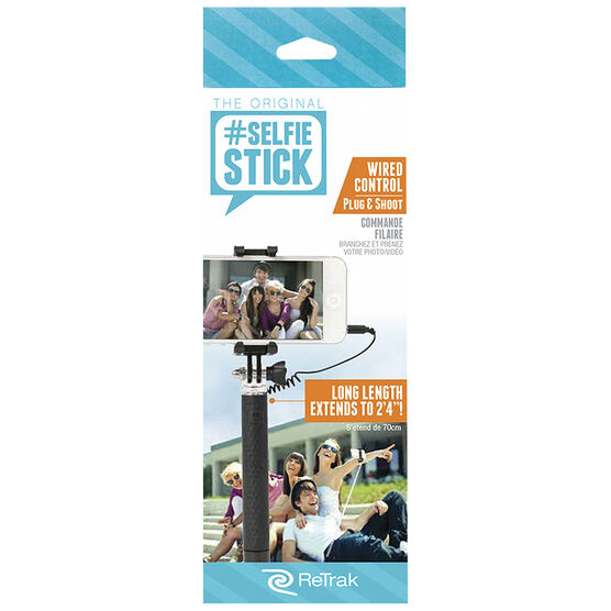 ReTrak Pocket Wired Selfie Stick - ETSELFIEPW