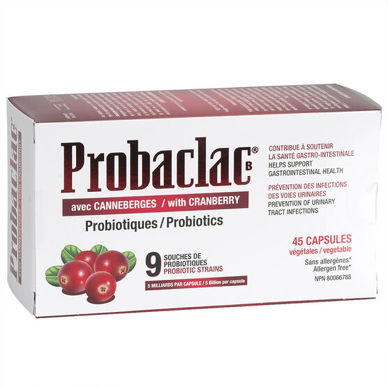 Probaclac Probiotics with Cranberry - 45's
