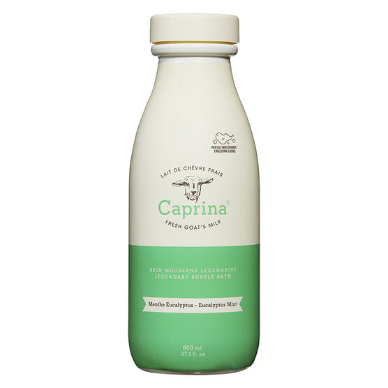 Caprina Fresh Goat's Milk Foaming Milk Bath -  Eucalyptus Mint - 800ml