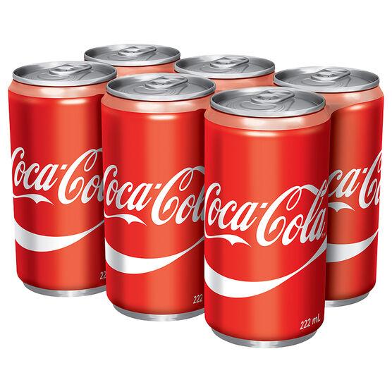Coca-Cola Classic - 6 x 222ml