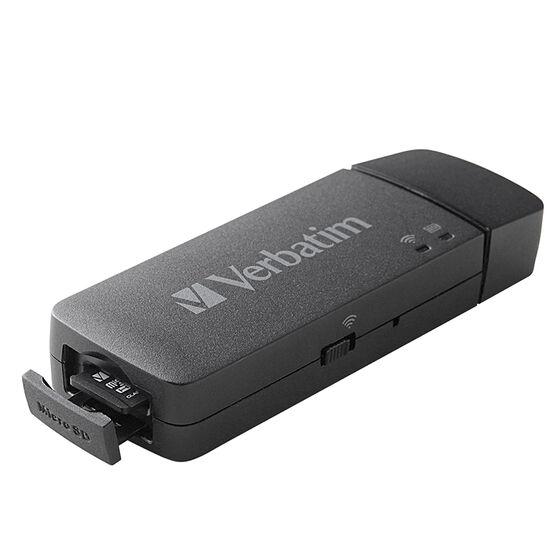 Verbatim MediaShare Mini Portable Wireless Streaming Device - Black - 49160