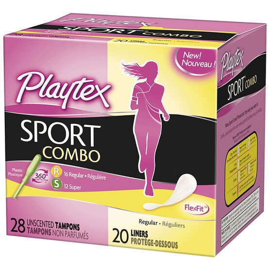Playtex Sport Combo Tampons & Liners - 28's/20's
