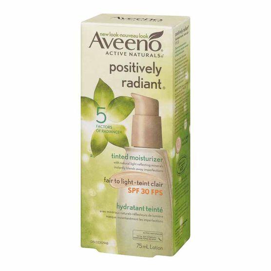 Aveeno Positively Radiant Tinted Moisturizer - SPF 30 - Fair to Light - 75ml