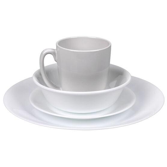 Corelle Livingware Winter Frost White Dinnerware Set - 16 piece