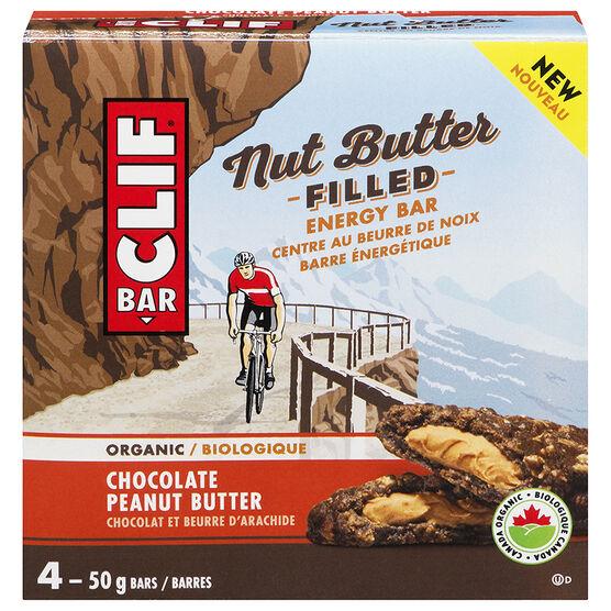 Clif Bar Nut Butter Filled Energy Bar - Chocolate Peanut Butter - 4 x 50g