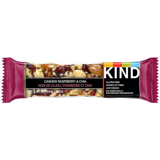 Kind Bar - Cashew Raspberry & Chia - 40g