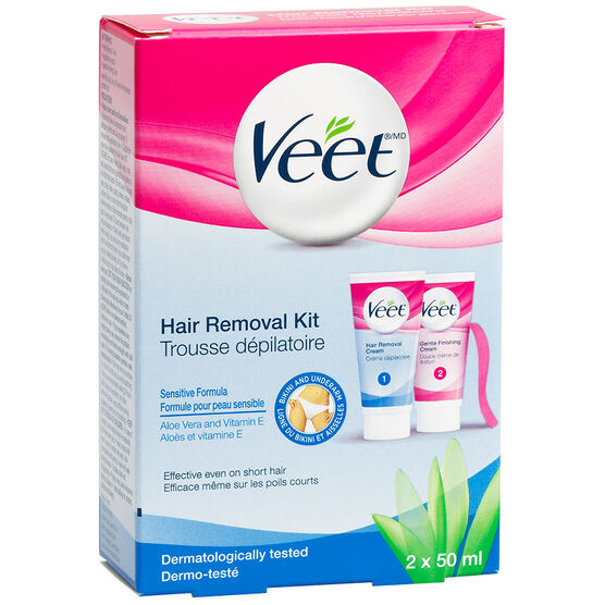 Veet Hair Removal Bikini Kit - Sensitive Formula - 2 x 50ml