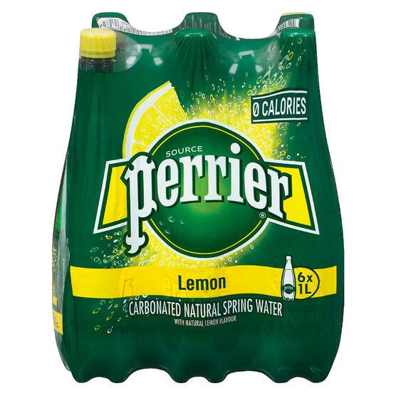 Perrier Sparkling Water Case - Lemon - 6 x 1L