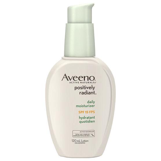 Aveeno Positively Radiant Daily Moisturizer - SPF 15 - 120ml