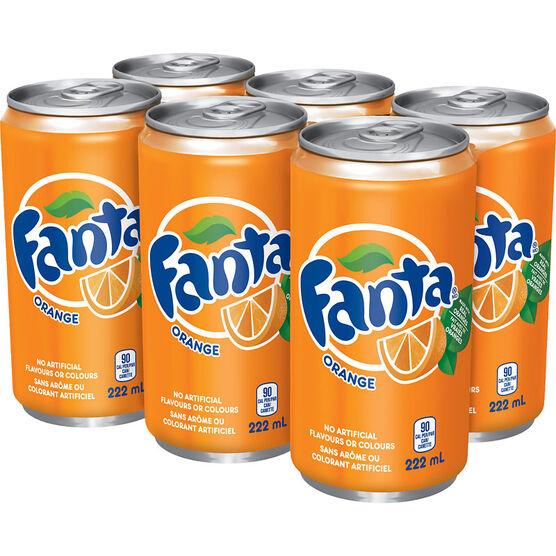 Fanta Orange- 6x222ml