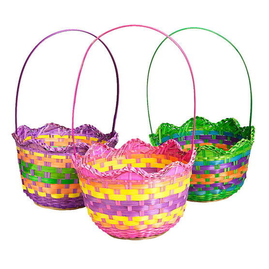 Easter Scalloped Basket - 9in