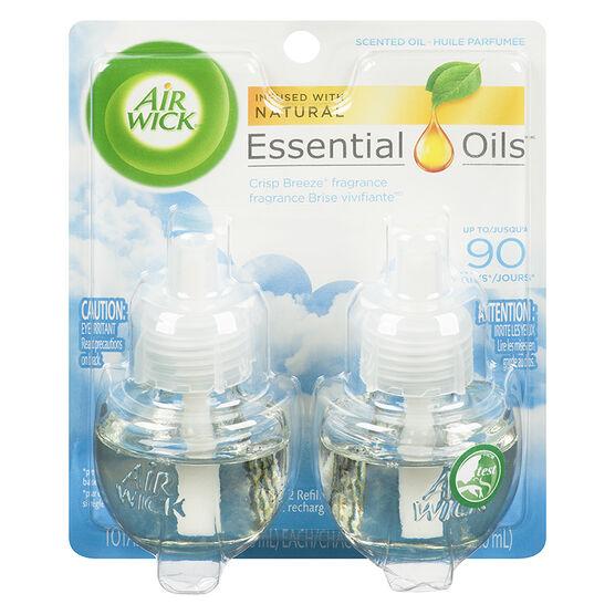 Air Wick Scented Oil Refill - Crisp Breeze - 2 x 21ml