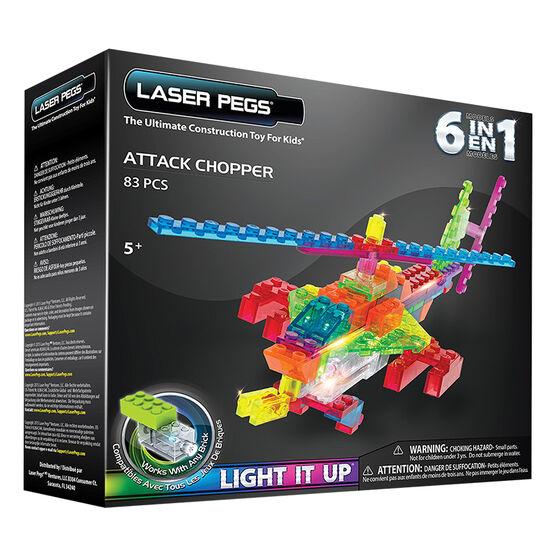 Laser Pegs 6 in 1 Attack Chopper