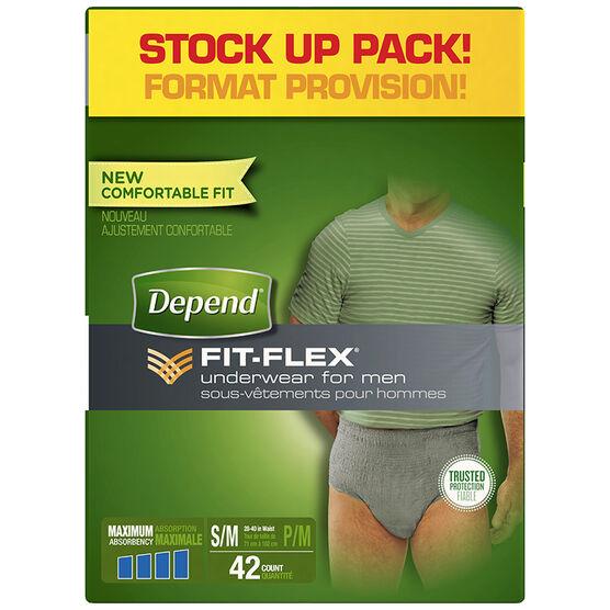 Depend Fit-Flex Underwear for Men Maximum Absorbency - Small/Medium - 42's
