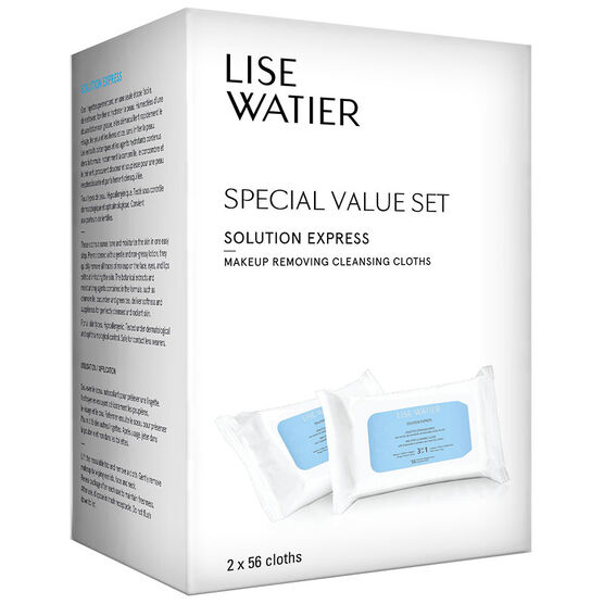Lise Watier Solution Express Makeup Removing Cleansing Cloths - 2x56's
