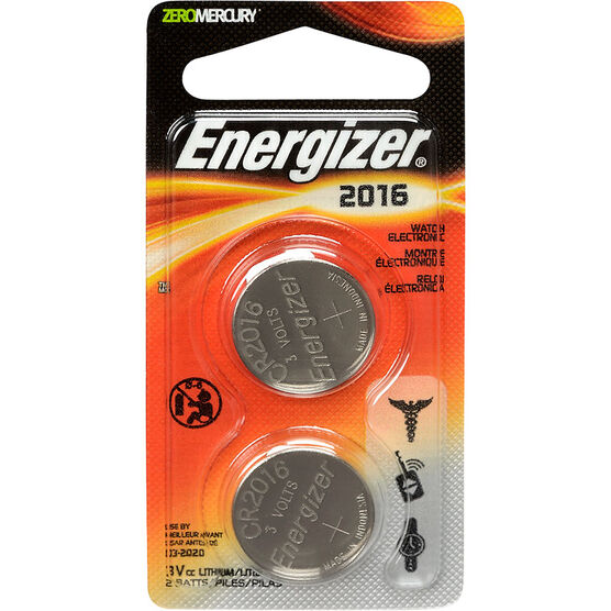 Energizer Lithium Battery - CR2016 - 2 Pack