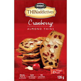 Nonni's Thinaddictives Cranberry Almond Thins - 126g