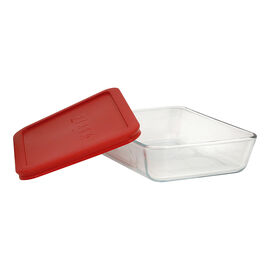 Pyrex Rectangle Glass Container with Red Lid - 3cup