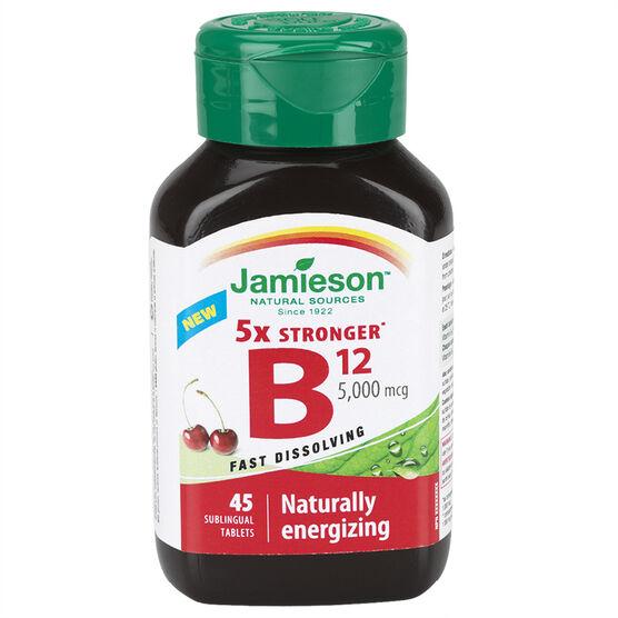 Jamieson 5x Stronger B12 - 5,000 mcg - 45's