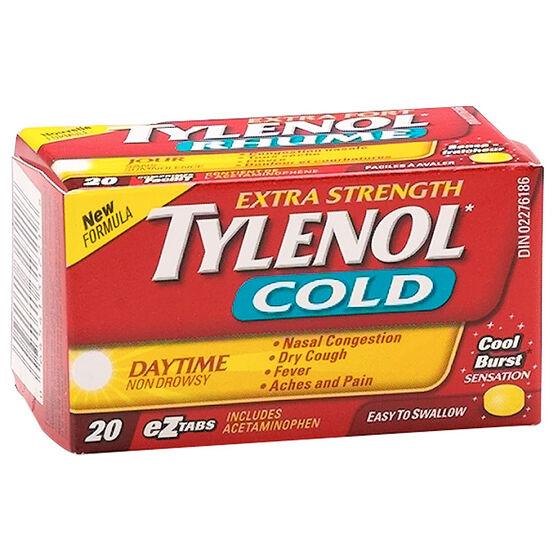 Tylenol* Cold Daytime Eztabs - Extra Strength - 20's