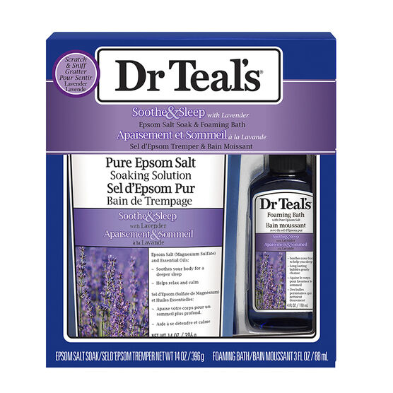Dr Teal's Epsom Salt Soak & Foaming Bath Set - Lavender