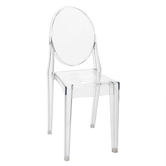 London Drugs Armless Ghost Chair - 49.5 x 38.5 x 90cm