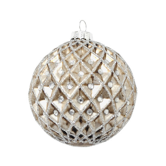 Modern Twist Diamond Stud Ornament - Champagne - 8cm